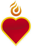 Burning heart icon Royalty Free Stock Photography