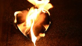 Burning heart stock footage