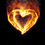 Burning heart. For your design Stock Photo