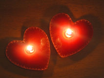 Heart shape candles Stock Photography