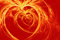 Burning hearts Stock Photo
