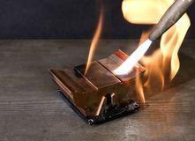 Burning heat sink Stock Photos