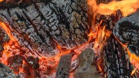 Burning heat and textured wood stock photo
