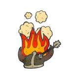 Burning helmet cartoon Stock Photos