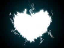burning hjärta Arkivbilder