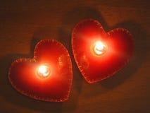 burning hjärtor Arkivbild