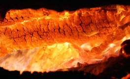 Burning hot embers Royalty Free Stock Photo