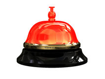 Burning hot reception bell. Render of burning hot reception bell Royalty Free Stock Photos