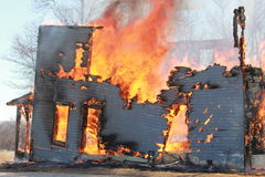 Burning House Stock Images