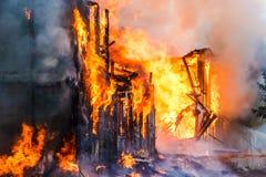 Burning house Stock Image