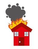 Burning house isolated icon design. Illustration  graphic Royalty Free Stock Images