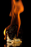 Burning House From Matches Royalty Free Stock Image