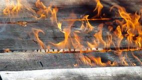 Burning house stock footage