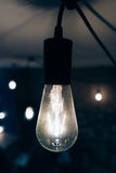 Burning an incandescent edison lamp Royalty Free Stock Photography