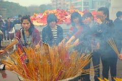 Burning incense Royalty Free Stock Photos
