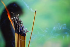 Burning Incense Royalty Free Stock Photo