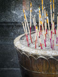 Burning incense Stock Image