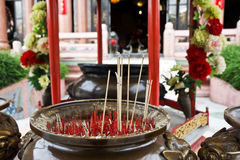 Burning Incense in Chinese Temple Royalty Free Stock Photo