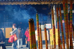 Burning incense, Guangzhou Stock Images