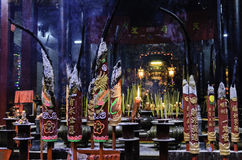 Burning incense Royalty Free Stock Images