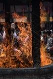 Burning incense Buddhist Temple, Shanghai Royalty Free Stock Photo
