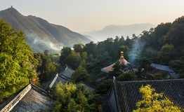 Burning incense for pray. In Tanzhe temple in Beijing, China Royalty Free Stock Photography