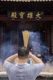 Burning incense Royalty Free Stock Photography
