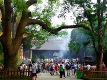 Burning incense and praying Stock Photo