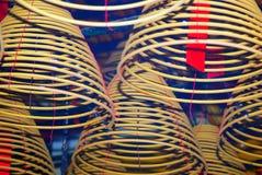 Burning incense, Sheung Wan, Hongkong Stock Photography