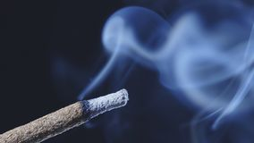 Free Burning Incense Stick Smoking Royalty Free Stock Images - 144674699