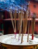 Burning Incense Sticks Royalty Free Stock Photography