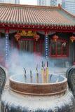 Burning incense sticks Royalty Free Stock Photos