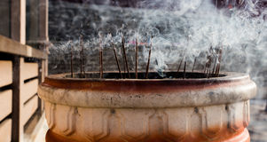 Burning Incense Sticks Stock Photos