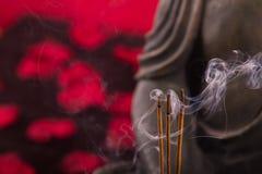 Burning incense sticks Royalty Free Stock Images