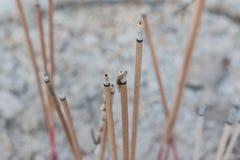 Burning incense sticks Stock Image