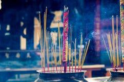 Burning incense sticks Royalty Free Stock Image