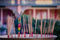 Burning Incense sticks Royalty Free Stock Image