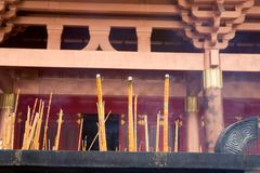 Burning incense,temple Royalty Free Stock Image