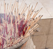 Burning incense in the temple Royalty Free Stock Image