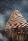 Burning incense in the temple Royalty Free Stock Photos