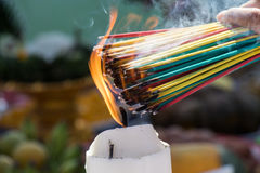 Burning the incense Royalty Free Stock Image