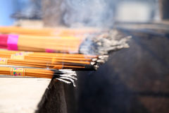 Burning incenses Stock Images