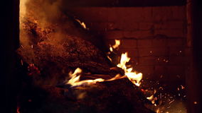 Burning of industrial waste in wood production stock footage