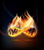 Burning infinity Stock Images