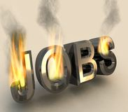 Burning job. Stock Photos