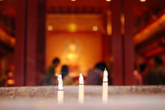 Burning joss stick in the Chinese temple Stock Photography