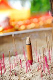 Burning joss sticks Royalty Free Stock Images