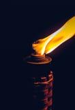 Burning kerosene torch Royalty Free Stock Image