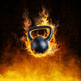 Burning kettlebell concept Stock Images