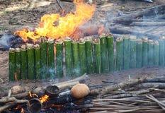 Burning Khao-lam Royalty Free Stock Photo